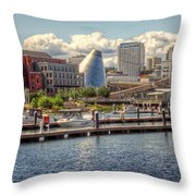 Museum Water Way View Throw Pillow