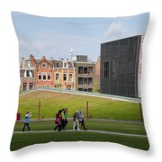 Museumplein Lawn In Amsterdam Throw Pillow