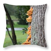 Yellow Mushroom #3 Throw Pillow