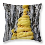 Yellow Mushroom #4 Throw Pillow