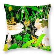Mushroom Abstract # 3 Throw Pillow