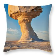 Mushroom Formation In White Desert  Throw Pillow