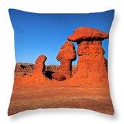 Mushroom Hoodoos  Throw Pillow