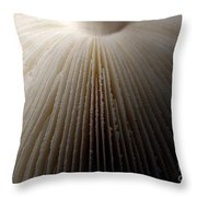 Mushroom With Watercolor Effect 4 Throw Pillow