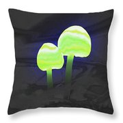 Couple Of Mushrooms Throw Pillow