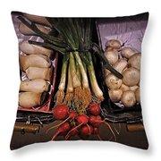 Mushrooms In The Seville Market  Throw Pillow
