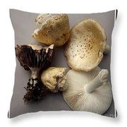 Mushrooms With Watercolor Effect 5 Throw Pillow