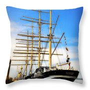 Mushulu At Penns Landing Throw Pillow