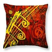 Music 2 Throw Pillow