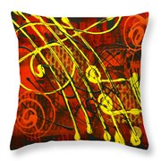 Music 3 Throw Pillow