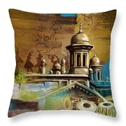 Music And Culture Throw Pillow by Catf