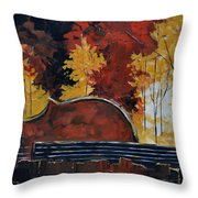 Music And Nature Throw Pillow by Vickie Warner