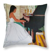 Music Brings Light Throw Pillow