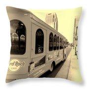 Music City Nashville Tour Throw Pillow