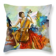 Music Colors And Beauty Throw Pillow