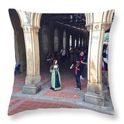 Music Echoes Under The Arches Throw Pillow