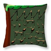 Music Industry Throw Pillow