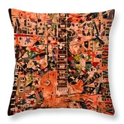 Music For Life All Is One Guitar   Throw Pillow