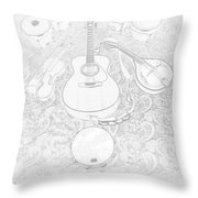 Music Frost Throw Pillow