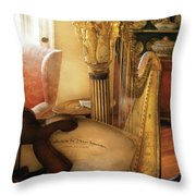 Music - Harp - The Harp Throw Pillow