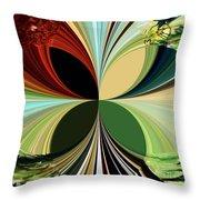 Music In Bird Of Tree Kaleidoscope Throw Pillow