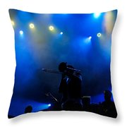 Music In Blue - Montreal Jazz Festival Throw Pillow