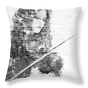 Music In My Soul Black And White Throw Pillow
