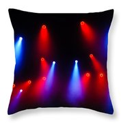 Music In Red And Blue - The Wonderful Sound Of Nightlife Throw Pillow
