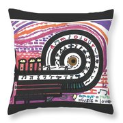 Music Is Amour Throw Pillow