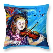 Music Lessons Throw Pillow