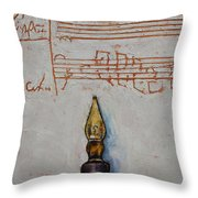 Music Throw Pillow by Michael Creese
