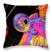 Music Out Of Metal V Throw Pillow