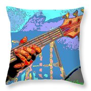 Music Out Of Metal Vi Throw Pillow
