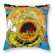 Music Out Of Metal Xiii Throw Pillow