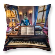 Music Room Throw Pillow