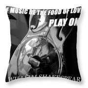 Music The Food Of Love Throw Pillow