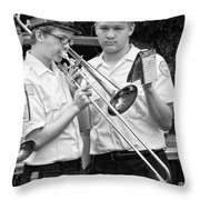 Music - Trombone - A Helping Hand  Throw Pillow