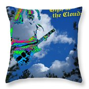 Music Up In The Clouds Again Throw Pillow