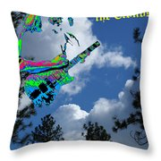 Music Up In The Clouds Throw Pillow