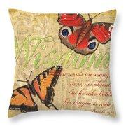 Musical Butterflies 4 Throw Pillow
