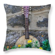 Musical Garden Throw Pillow