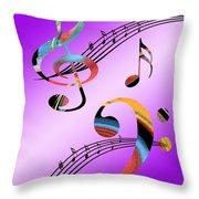 Musical Illusion Throw Pillow