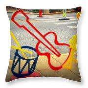 Musical Instruments Bike Rack Throw Pillow