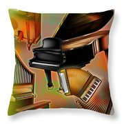 Musical Instruments With Keyboards Throw Pillow