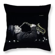 Musical Trip Throw Pillow by Stwayne Keubrick