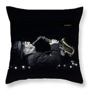 Musical Trip Throw Pillow