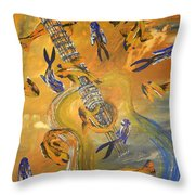 Musical Waters Throw Pillow