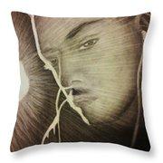 Musically Mesmerized Throw Pillow