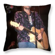 Musician Billy Ray Cyrus Throw Pillow