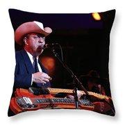 Musician Junior Brown Throw Pillow